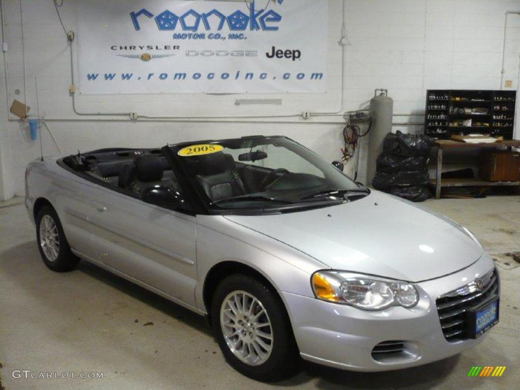 Brilliant Silver Metallic Chrysler Sebring Convertible