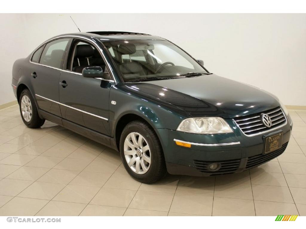 2002 pine green metallic volkswagen passat gls sedan 26068528 car color galleries. Black Bedroom Furniture Sets. Home Design Ideas