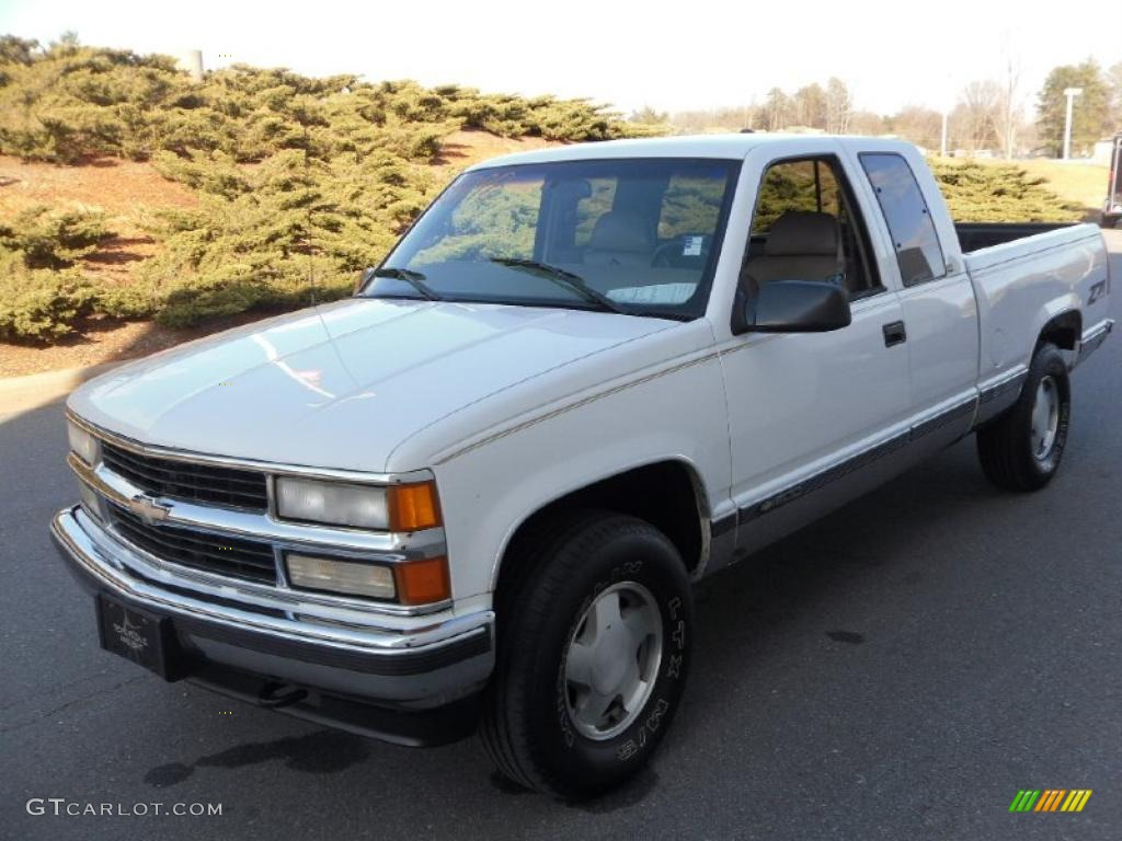 1997 c k k1500 silverado extended cab 4x4 olympic white neutral shale photo