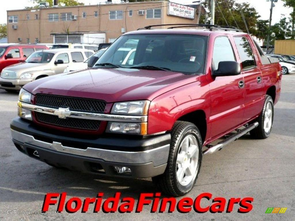 2004 sport red metallic chevrolet avalanche 1500 z66 26068136 car color galleries. Black Bedroom Furniture Sets. Home Design Ideas