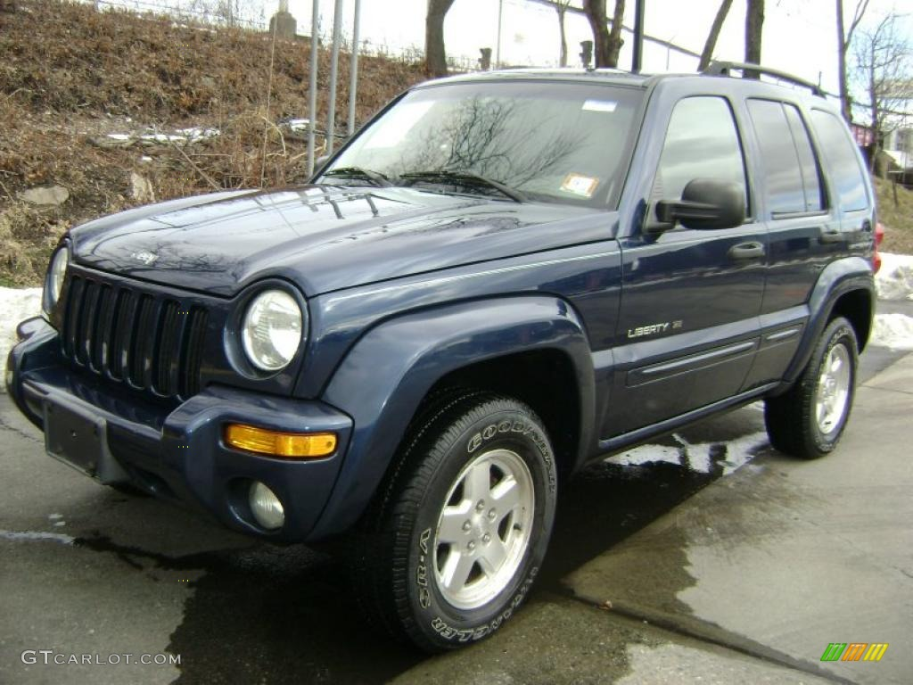 2002 patriot blue pearlcoat jeep liberty limited 4x4 26068341 photo 2 car. Black Bedroom Furniture Sets. Home Design Ideas