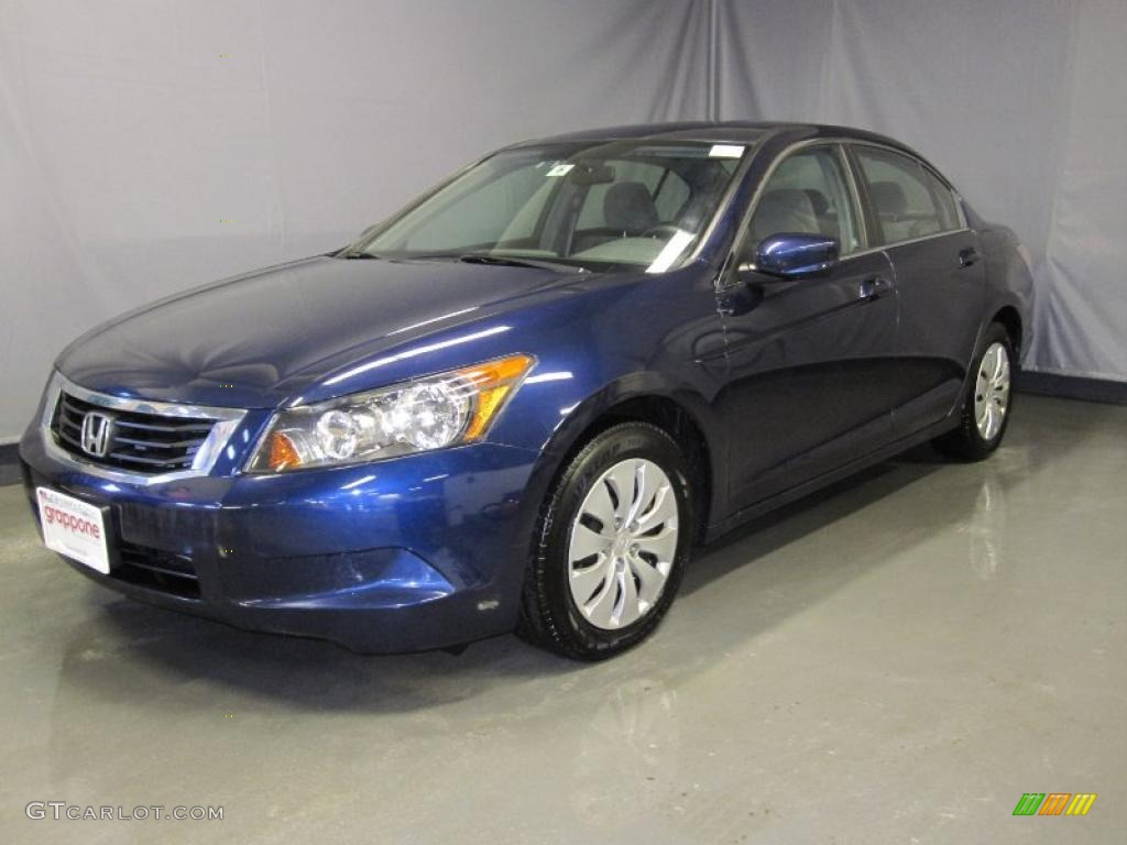 2008 Royal Blue Pearl Honda Accord Lx Sedan 26068348