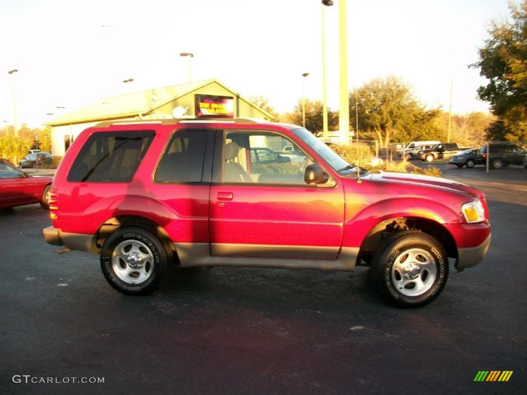2003 Explorer Sport XLS - Redfire Metallic / Graphite Grey photo #4