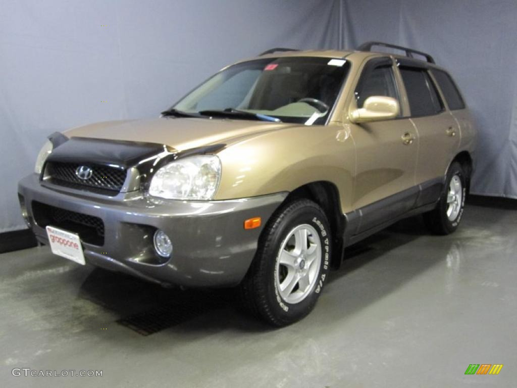 2002 sandstone hyundai santa fe gls awd 26125659 car color galleries. Black Bedroom Furniture Sets. Home Design Ideas
