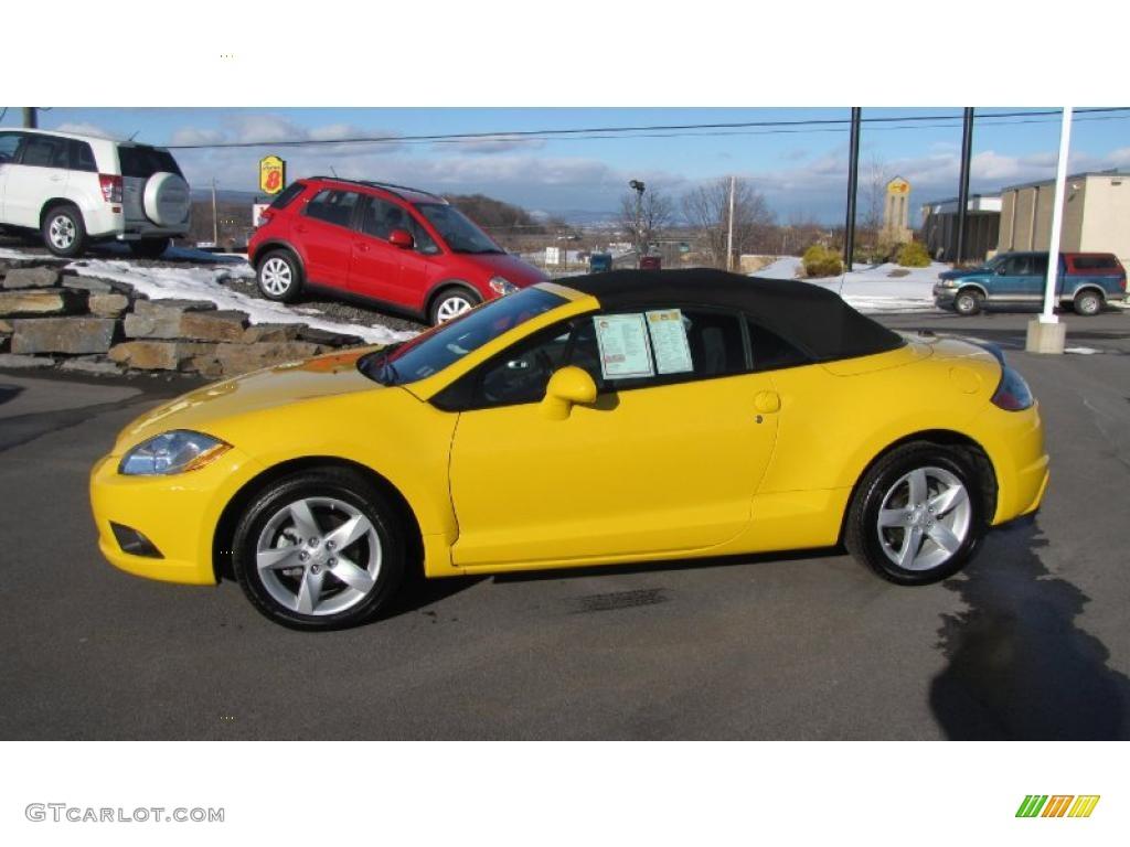2009 Solar Satin Yellow Mitsubishi Eclipse Spyder GS #26125730 ...