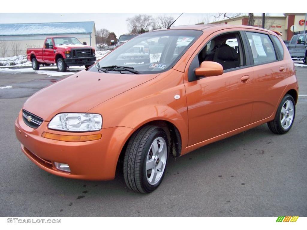 Chevrolet chevrolet 2006 aveo : 2006 Spicy Orange Chevrolet Aveo LT Hatchback #26177291   GTCarLot ...