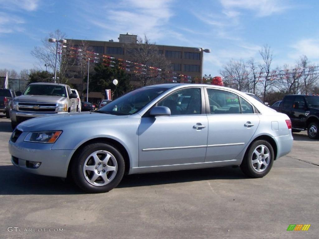 2006 Silver Blue Metallic Hyundai Sonata Lx V6 26177525