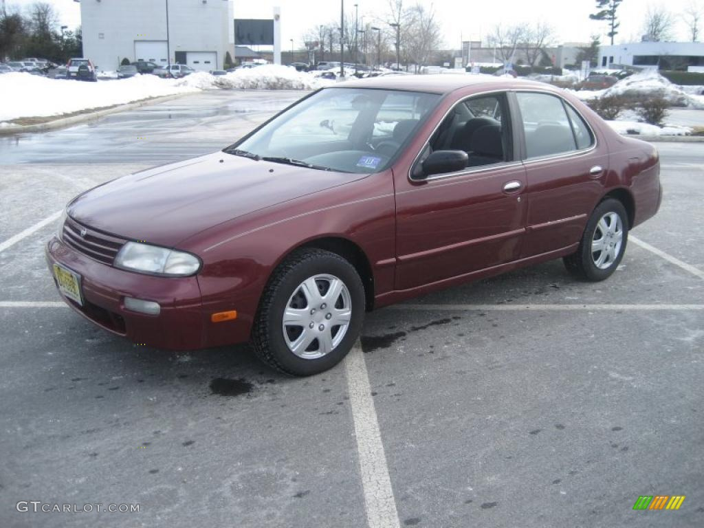 1997 Garnet Red Pearl Nissan Altima Gxe 26177542