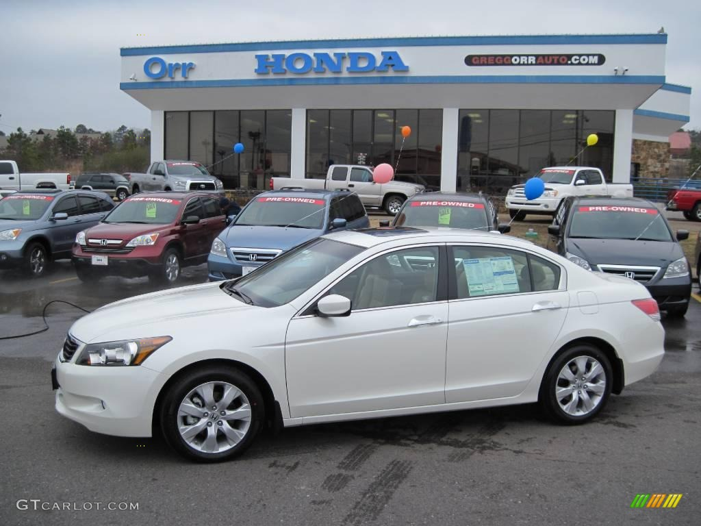 2010 white diamond pearl honda accord ex l v6 sedan. Black Bedroom Furniture Sets. Home Design Ideas