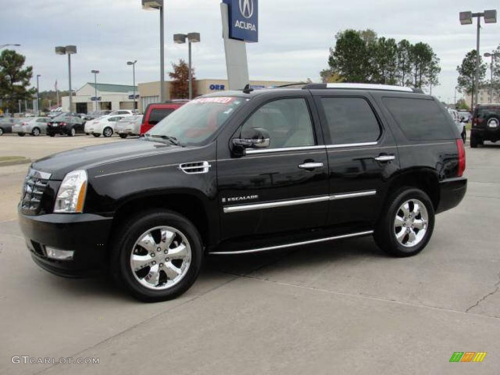 2007 Cadillac Escalade Awd Black Raven Color Cocoa Light