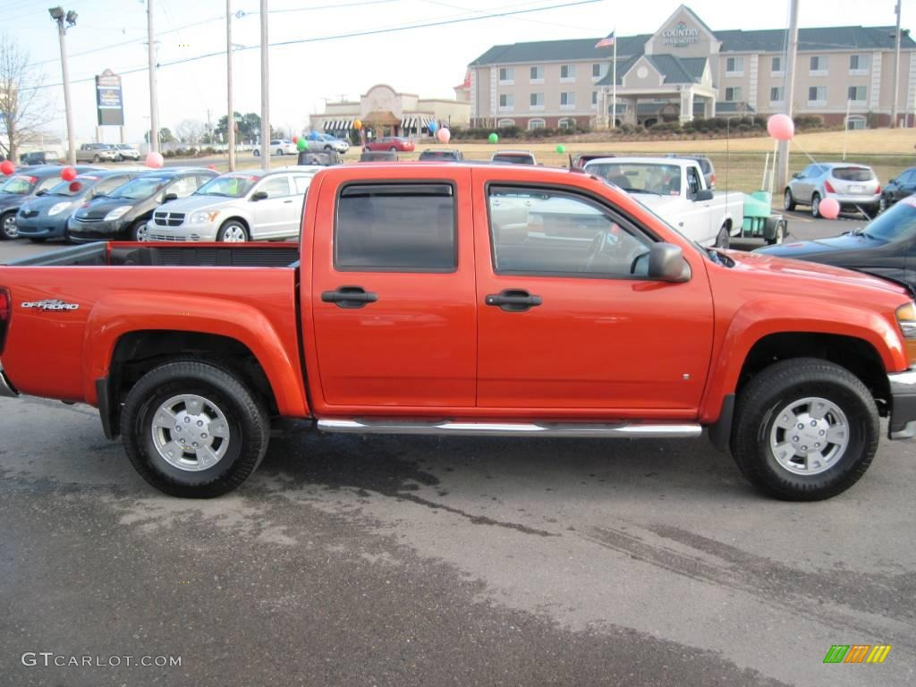 2008 red orange metallic gmc canyon sle crew cab 4x4 26210454 photo 6 car. Black Bedroom Furniture Sets. Home Design Ideas