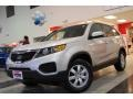 2011 Bright Silver Kia Sorento LX AWD  photo #2