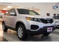 2011 Bright Silver Kia Sorento LX AWD  photo #10