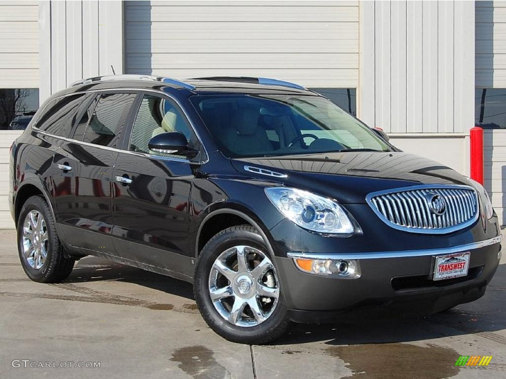 2009 Enclave CXL AWD - Carbon Black Metallic / Cocoa/Cashmere photo #1