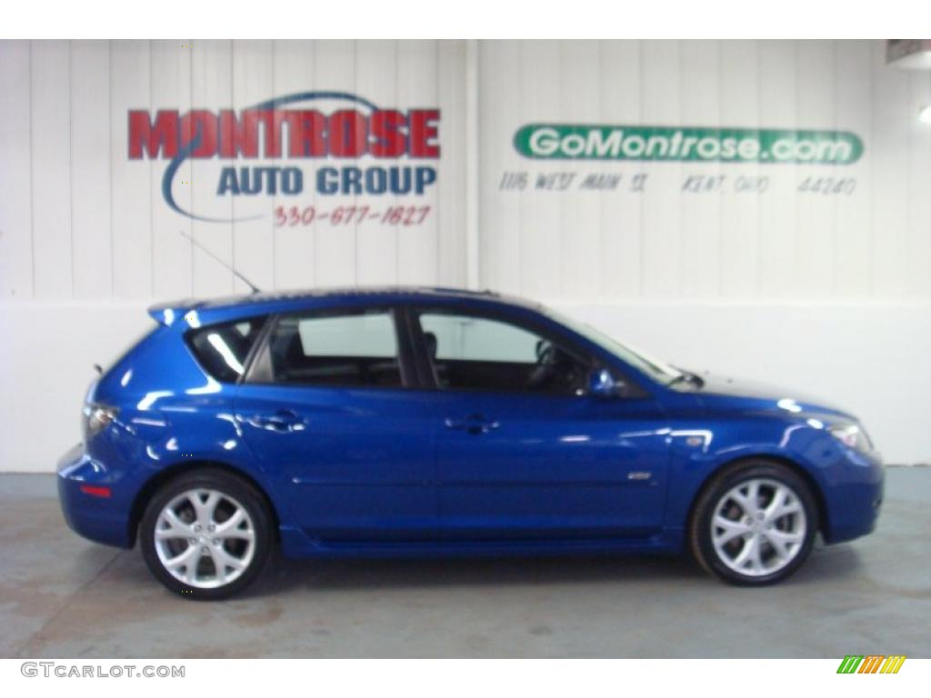 2007 aurora blue mica mazda mazda3 s grand touring hatchback 26210743 car. Black Bedroom Furniture Sets. Home Design Ideas