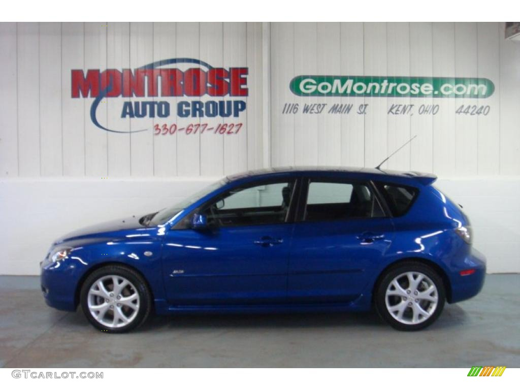 2007 aurora blue mica mazda mazda3 s grand touring hatchback 26210743 photo 2. Black Bedroom Furniture Sets. Home Design Ideas