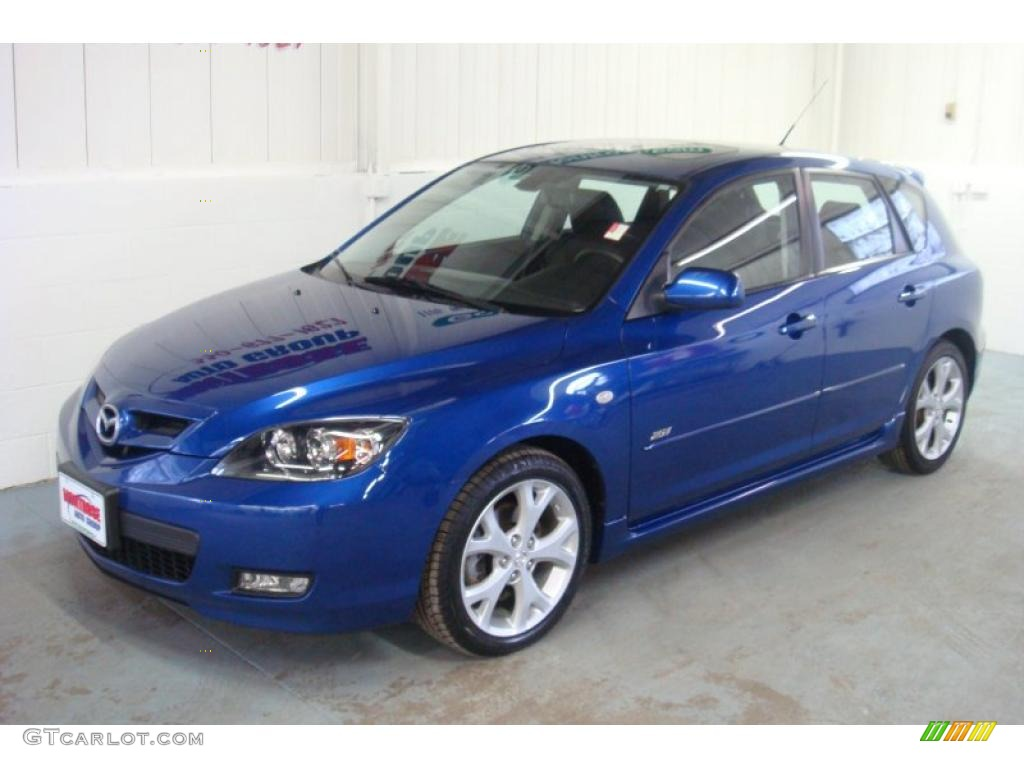 2007 aurora blue mica mazda mazda3 s grand touring hatchback 26210743 photo 3. Black Bedroom Furniture Sets. Home Design Ideas