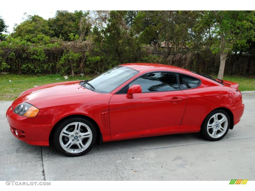 rally red 2003 hyundai tiburon gt v6 exterior photo. Black Bedroom Furniture Sets. Home Design Ideas