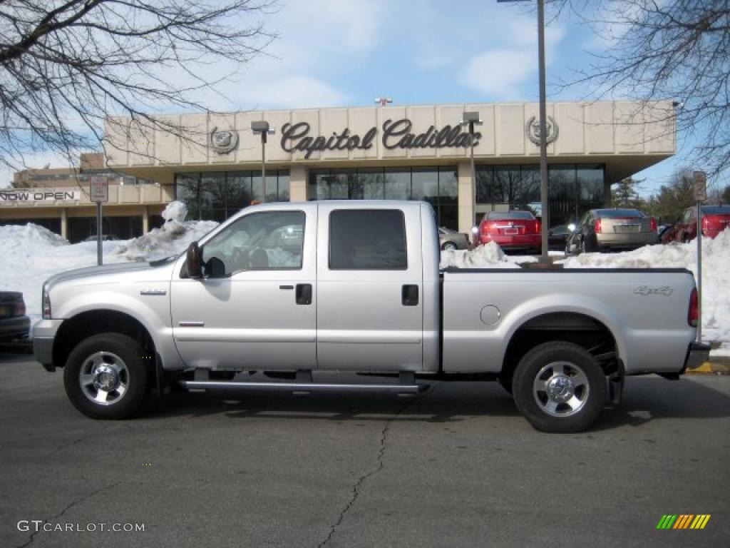 2006 silver metallic ford f250 super duty lariat crew cab. Black Bedroom Furniture Sets. Home Design Ideas