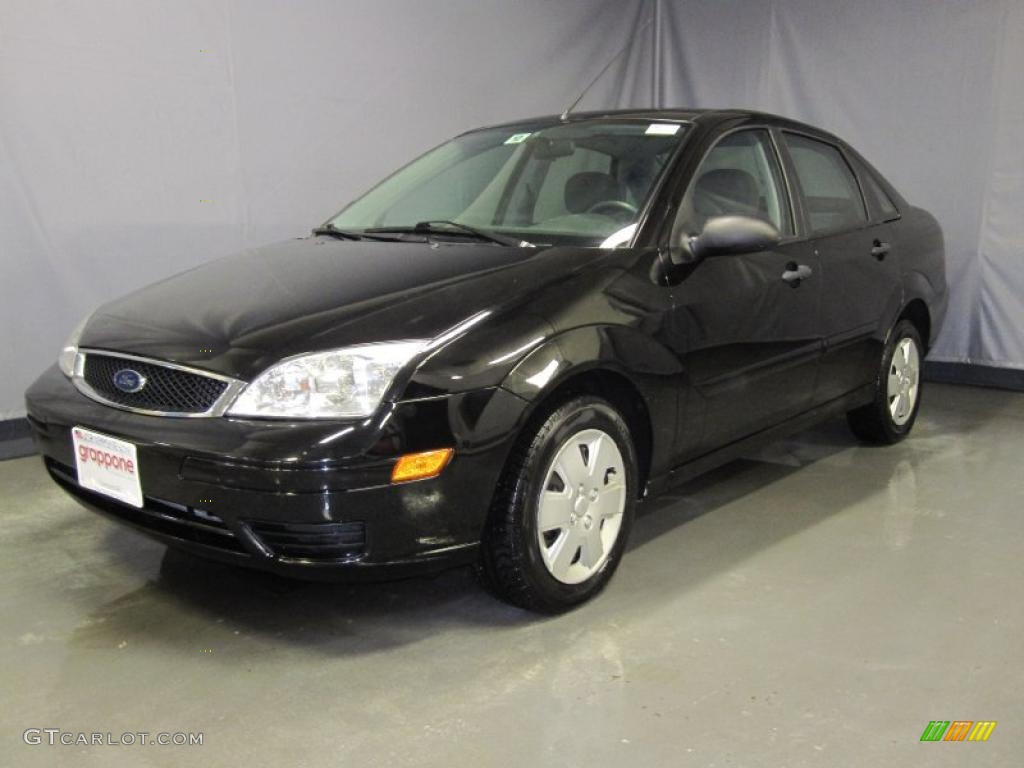 2007 pitch black ford focus zx4 se sedan 26258491 car color galleries. Black Bedroom Furniture Sets. Home Design Ideas