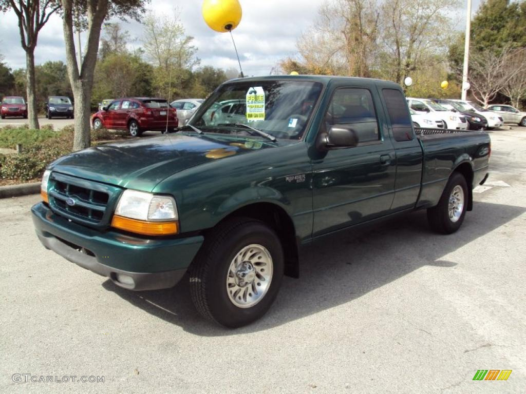 1999 ranger xlt extended cab amazon green metallic medium graphite photo 1