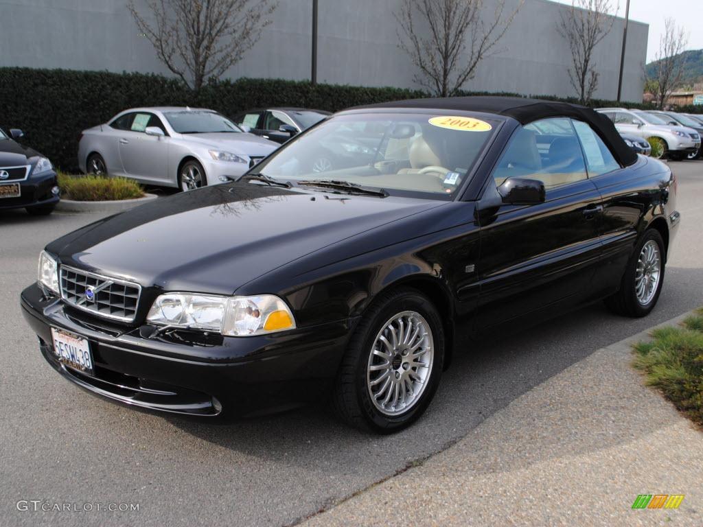 2003 c70 ht convertible black sapphire metallic beige photo 3