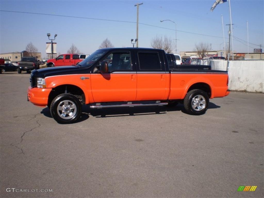2004 black competition orange ford f250 super duty harley davidson crew cab 4x4 26258941