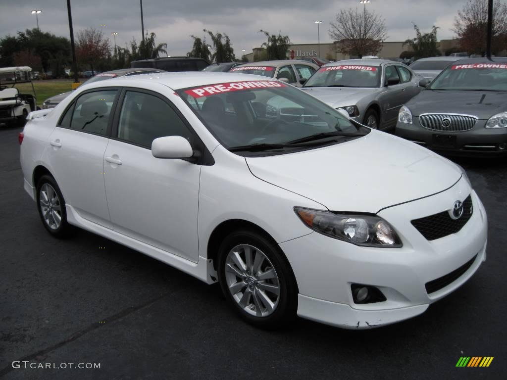 2009 super white toyota corolla s 26258685 car color galleries. Black Bedroom Furniture Sets. Home Design Ideas