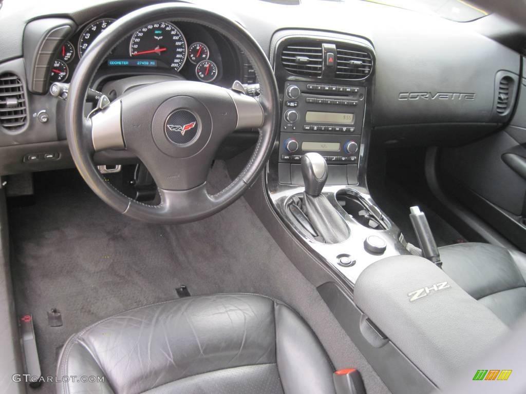 Ebony Interior 2008 Chevrolet Corvette ZHZ Hertz Edition ...