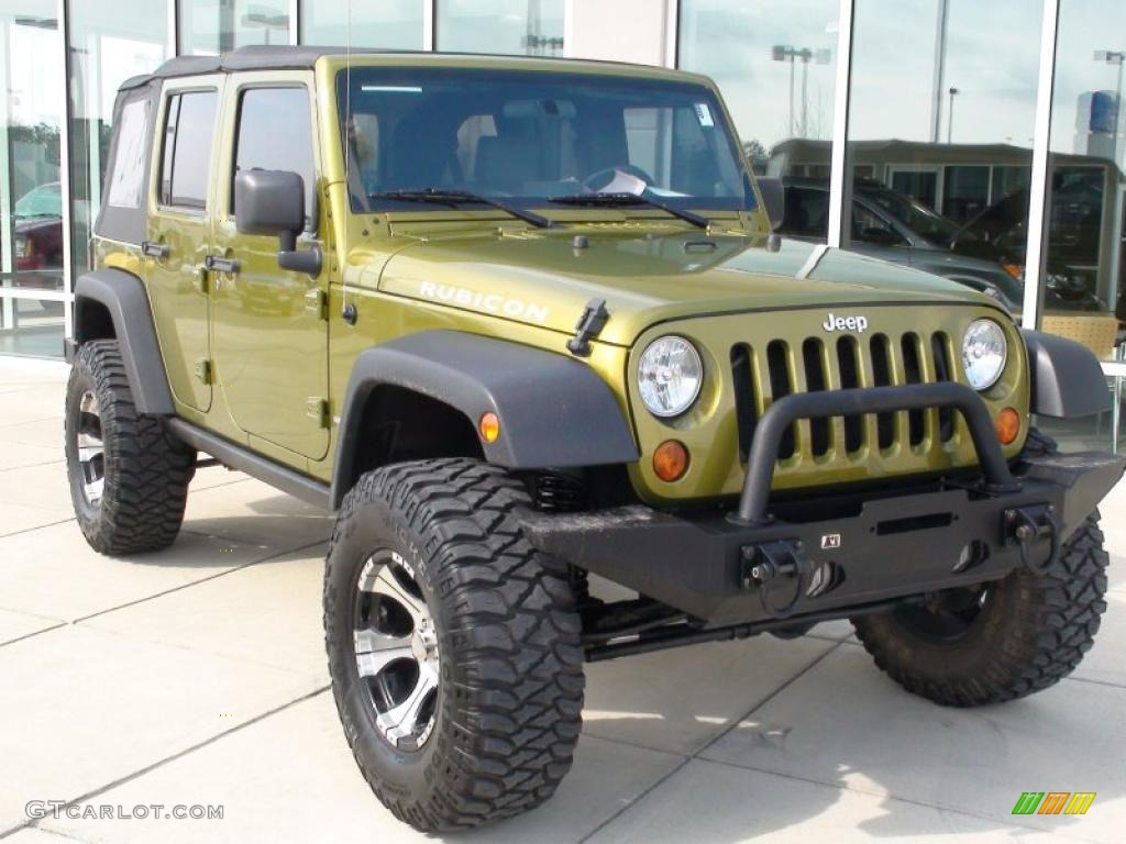 Rescue green metallic jeep wrangler unlimited jeep wrangler unlimited rubicon 4x4