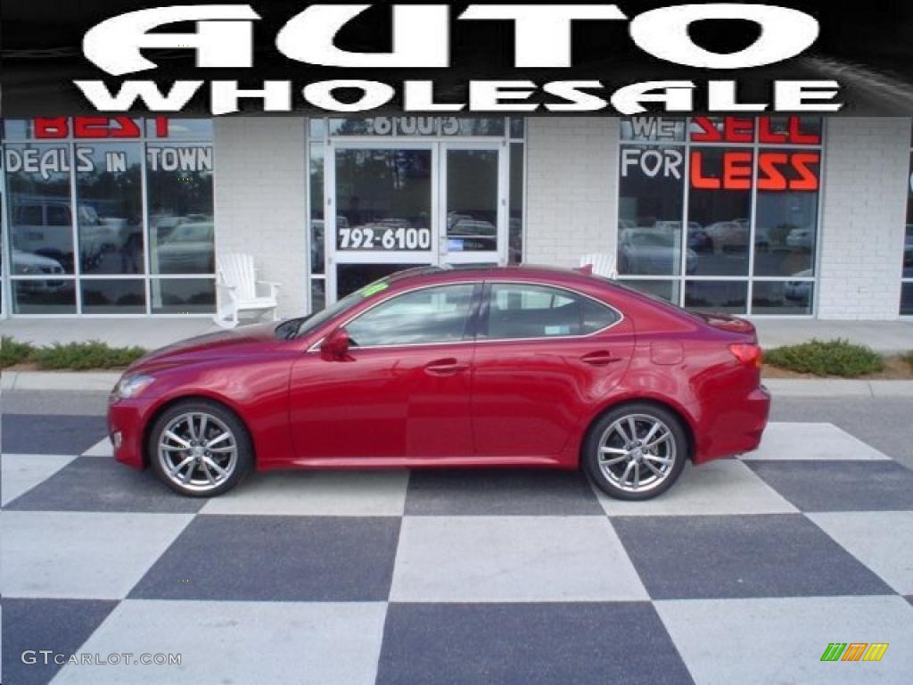 Matador Red Mica Lexus IS. Lexus IS 250