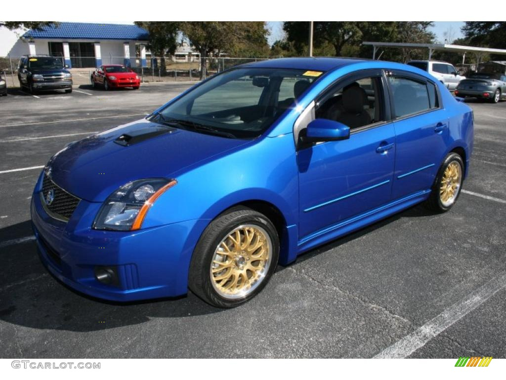 sapphire blue 2008 nissan sentra se r exterior photo. Black Bedroom Furniture Sets. Home Design Ideas