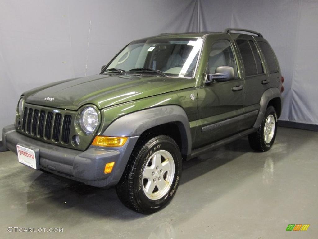 2006 jeep green metallic jeep liberty sport 4x4 #26355722