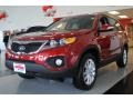 2011 Spicy Red Kia Sorento EX AWD  photo #3