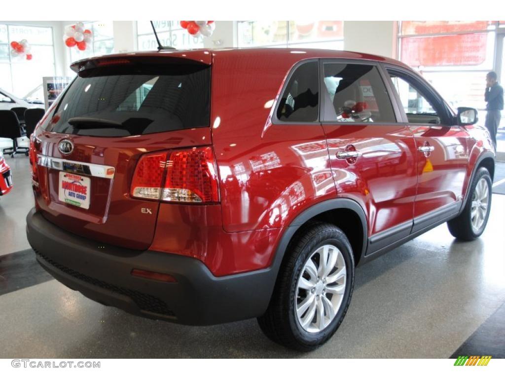 2011 Sorento EX AWD - Spicy Red / Beige photo #8