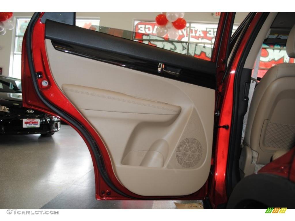 2011 Sorento EX AWD - Spicy Red / Beige photo #50