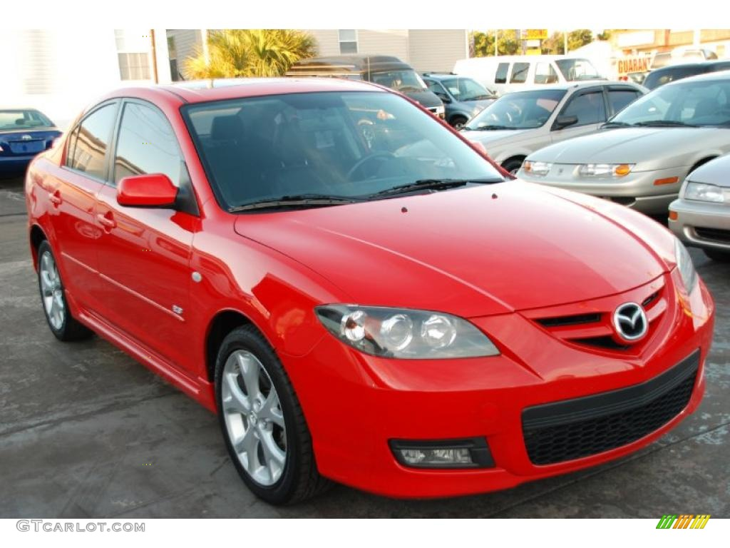 2007 true red mazda mazda3 s grand touring sedan 26399283 car color galleries. Black Bedroom Furniture Sets. Home Design Ideas