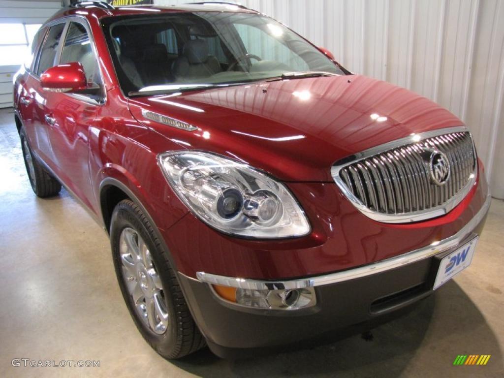 2008 Enclave CXL AWD - Red Jewel / Titanium/Dark Titanium photo #1