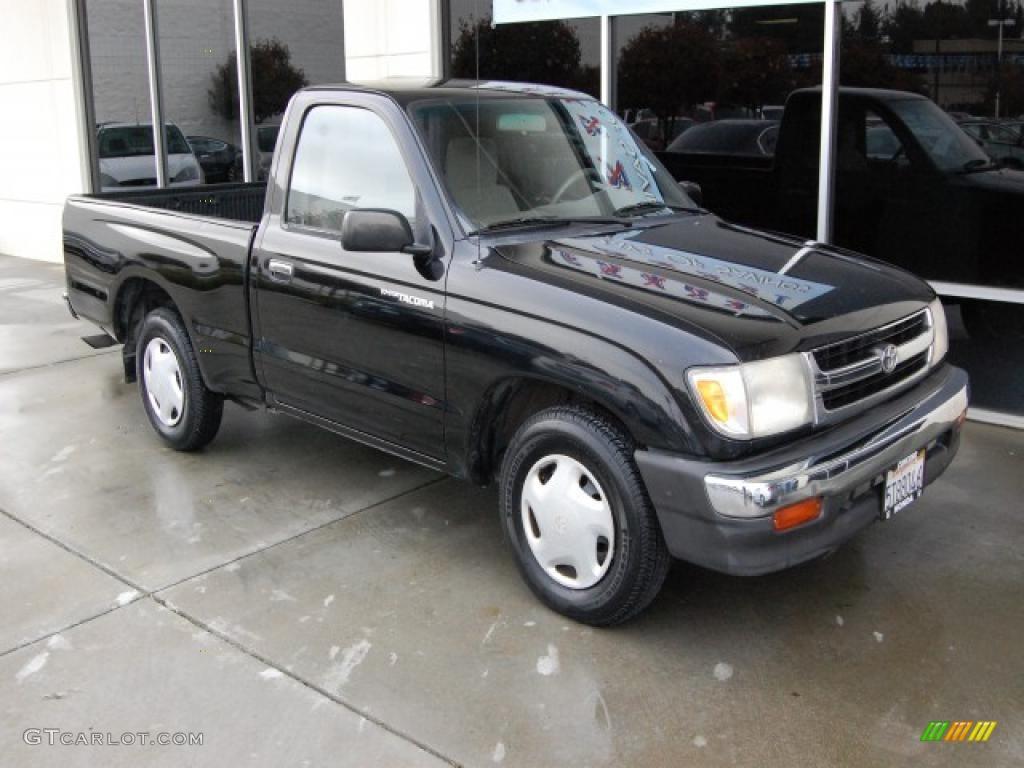 1998 Black Metallic Toyota Tacoma Regular Cab #26398990 | GTCarLot.com ...