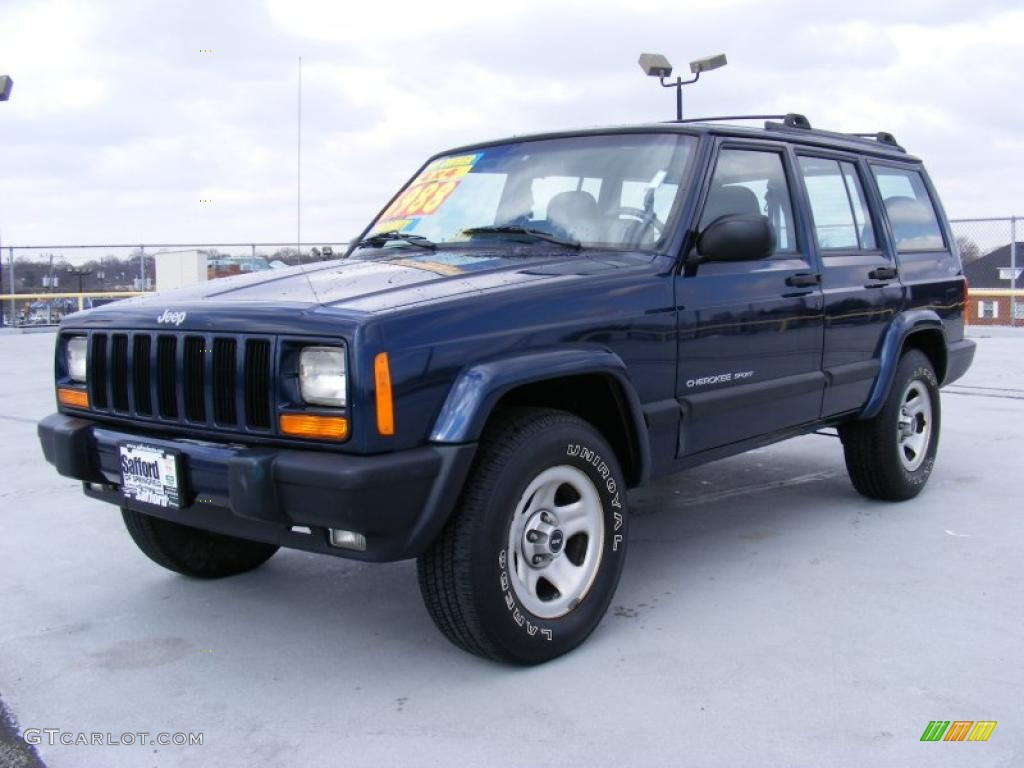 2000 jeep cherokee sport 4x4 patriot blue pearl color agate black. Cars Review. Best American Auto & Cars Review