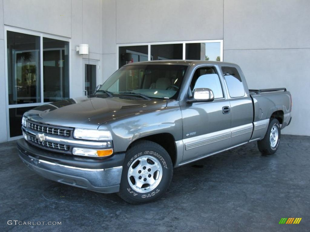 2000 Silverado 1500 LS Extended Cab - Charcoal Gray Metallic / Medium Gray photo #1