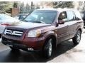 2007 Dark Cherry Pearl Honda Pilot EX-L 4WD  photo #2