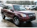 2007 Dark Cherry Pearl Honda Pilot EX-L 4WD  photo #4