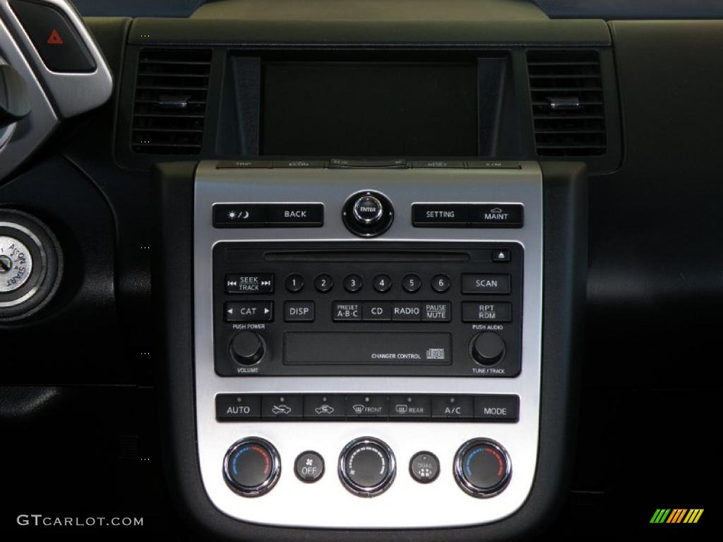 2006 Murano S AWD - Super Black / Charcoal photo #11