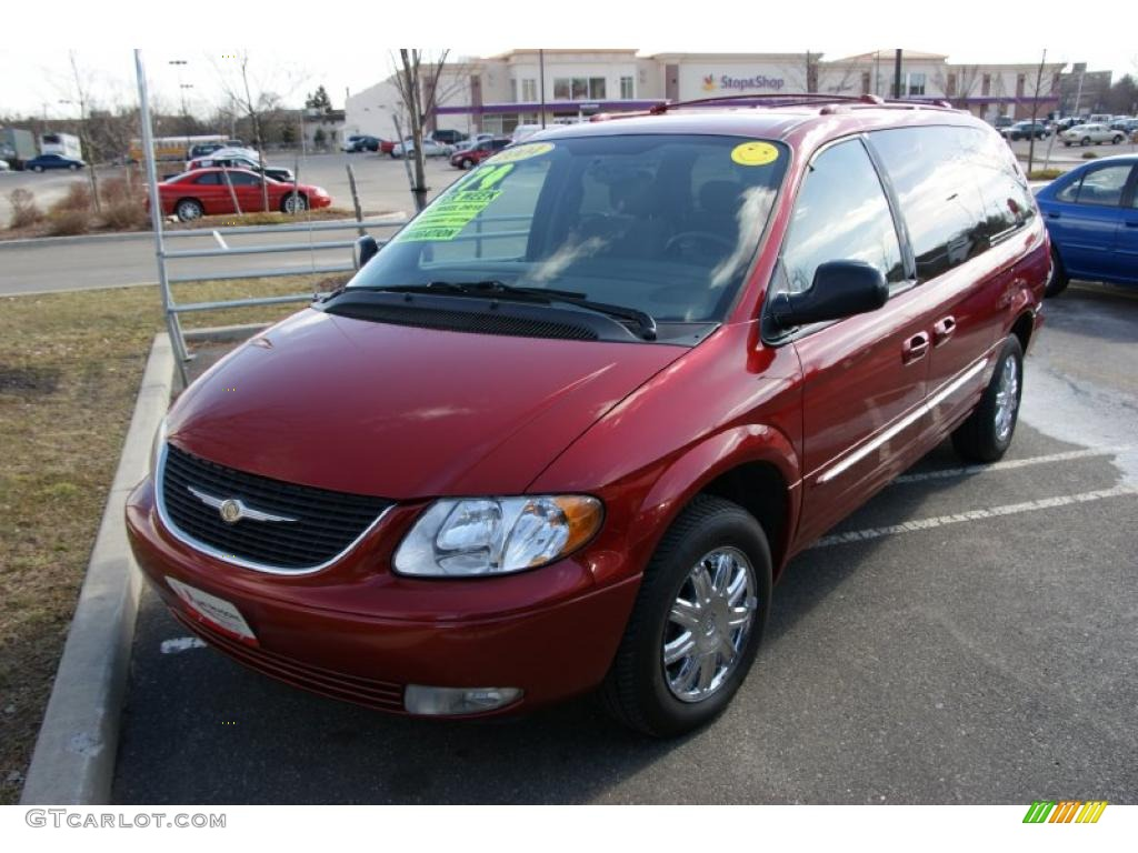 2004 inferno red tinted pearlcoat chrysler town country limited awd 26460306. Black Bedroom Furniture Sets. Home Design Ideas