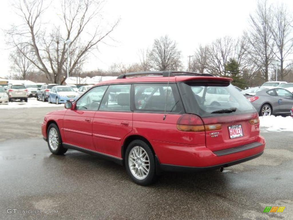 1997 Legacy GT Wagon - Rio Red / Grey photo #3