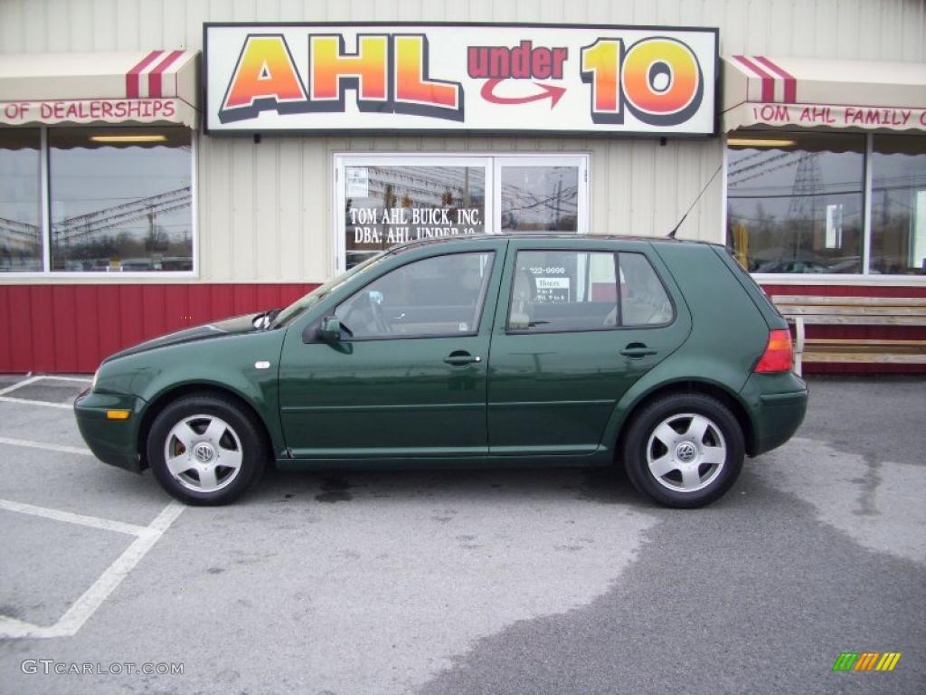 2000 bright green pearl volkswagen golf gls 4 door. Black Bedroom Furniture Sets. Home Design Ideas