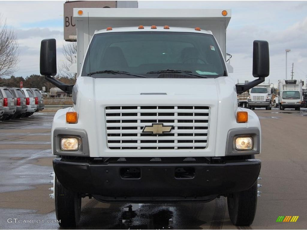 2004 C Series Kodiak C6500 Regular Cab Dump Truck - Summit White / Black photo #2