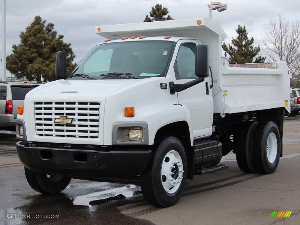 2004 C Series Kodiak C6500 Regular Cab Dump Truck - Summit White / Black photo #3