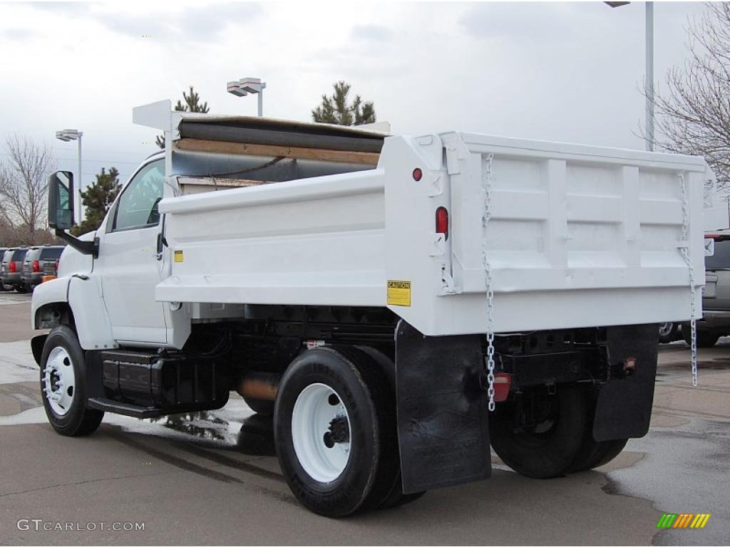 2004 C Series Kodiak C6500 Regular Cab Dump Truck - Summit White / Black photo #5